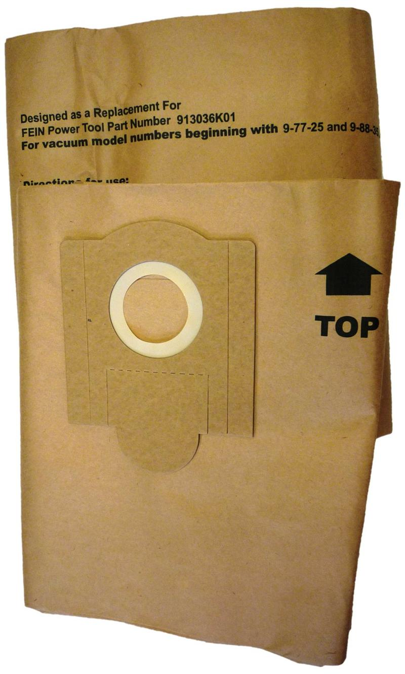 Green Klean Fein Replacement Paper Dust Bag For Turbo Ii 9