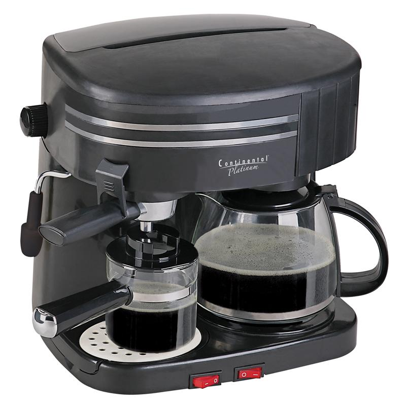 Buy Continental Coffee Makers - Continental Coffee/Espresso Combo Cp43609