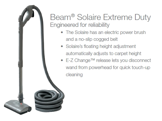 Beam Central Vacuum Solaire Power Team Kit 012259 With 30