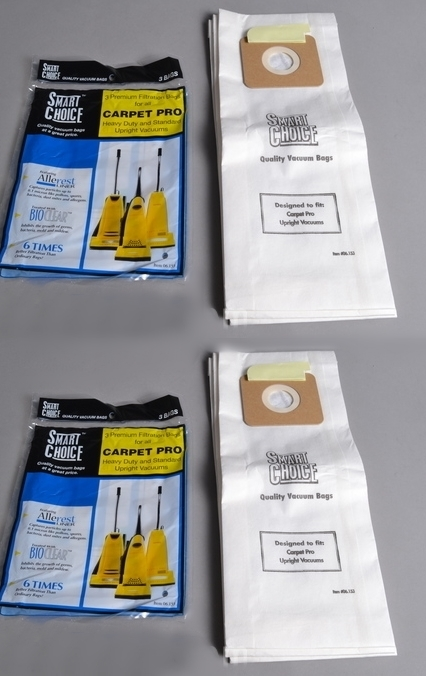 Cpp 3 Carpet Pro Vacuum Bags 6 Pack Bags For Uprights