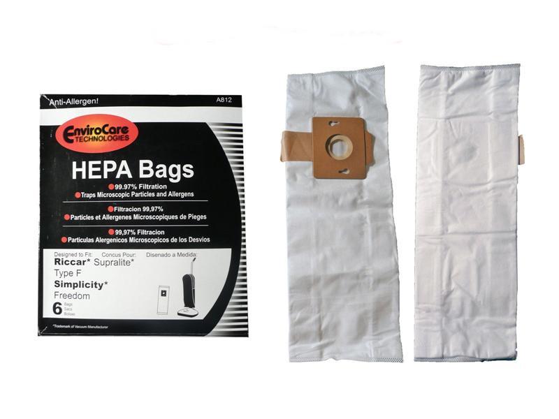 Riccar Superlite Vacuum Bags Envirocare A812 Oem Rlh 6