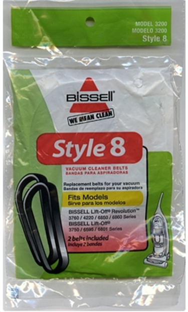 Bissell Lift Off Syle 8 Original Belt 2 Pk 3200