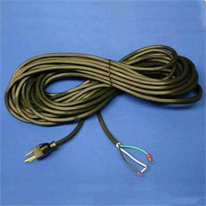 Commercia Cord, 50ft Black 18/3 Wire w/ Gripper Tinned Ends