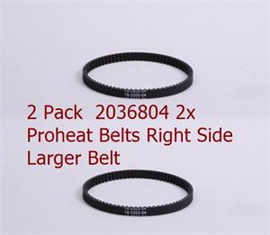 2036804 Bissell Belts Right Ride larger belt 2 pack