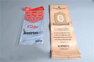 190681S PAPER BAGS-KIRBY,#2,3PK,HERITAGE I,UPRIGHT