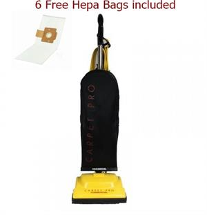CARPET PRO COMMERCIAL 8 LBS LIGHTWEIGHT VACUUM CLEANER # ZM-400.CP   with free 6 pack hepa bags