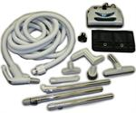 Central Vacuum Electric Kit 35 ft hose  Dual Connections plus Attachments