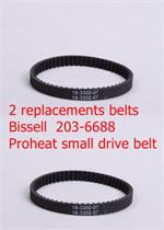 2 pack Replacement 203-6688 Bissel Belt Proheat 2X series small Belt