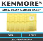 Kenmore allergen 5055, 50557 & 50558 Bags 9PK  style Q