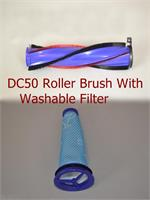 DYSON DC50 VACUUM CLEANER BRUSHROLL BRUSH ROLLER for 964705-01 plus Filter