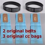 2 Original XL Upright Models Belts 3 Original Oreck Style CC Bags