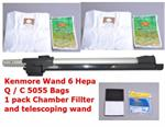 Sears Kenmore EXTEND Extension Telescoping Vacuum Wand KC99PCPMZV06 along with 6  Hepa Bags 2 chamber filters