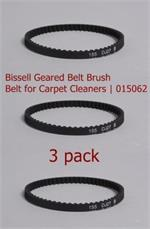 3 pack Bissell Geared Brush Belt Carpet Cleaners 0150621