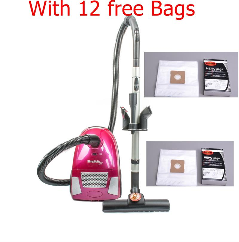 Simplicity Jill Bagged Canister Vacuum Cleaner With 12
