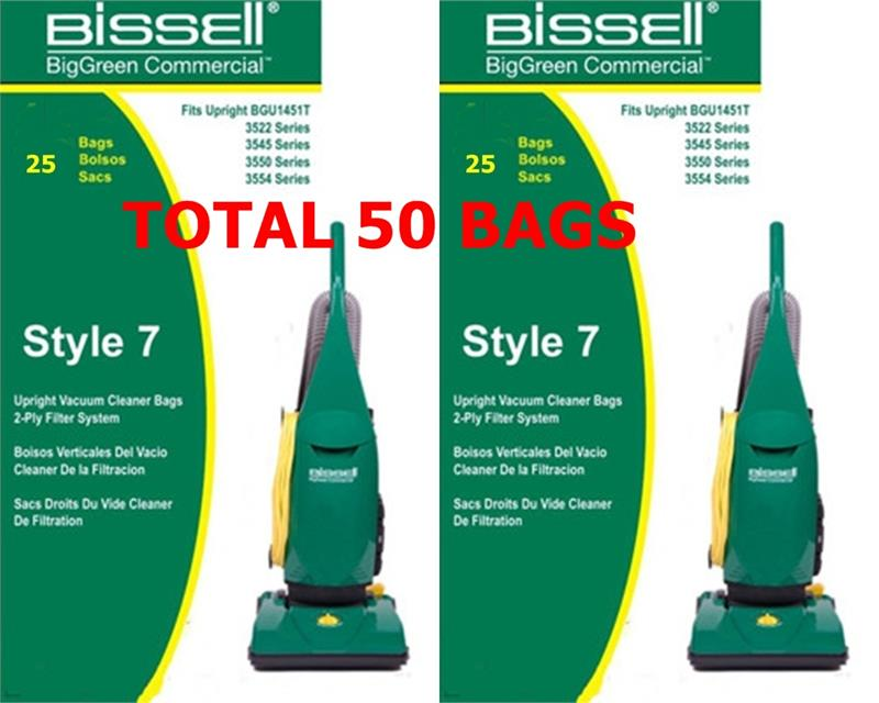 Bissell Commercial Replacement Bags For Bgu1451t 25pack