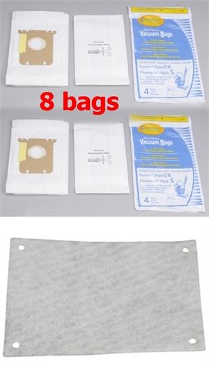 Electrolux S, Ox bags 8 pack plus 1 filter 1182330025