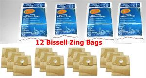 12 pack Bissell Type 2138425 Vacuum Bags Micro Lined Allergen 4122 Zing Canister vac