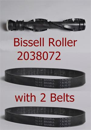 Bissell Roller Brush 2038072 with 2 replacement belts