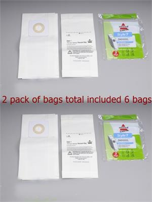 Style 7 Vacuum Bags for Select Bagged Vacuums 32120 6 bags total