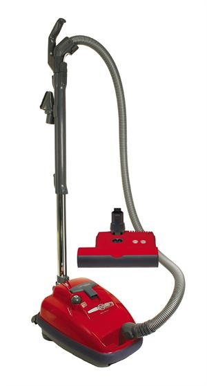 SEBO 9687AM Airbelt K3 Canister Vacuum with ET-1 Powerhead and Parquet Brush, Red