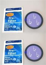 Dyson  DC23,DC32  Pre Motor Filters package of 2 envirocare f615